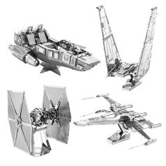 Kits para fabricar naves de metal en 3D de Star Wars Episodio VII