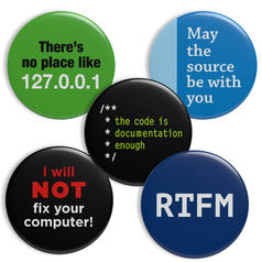 Geek Buttons IT Theme