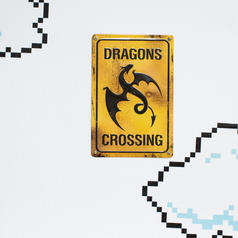Advertencia dragones cruzando
