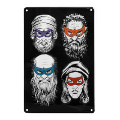 Teenage Mutant Ninja Artists Tin Sign