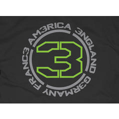 Camiseta negra Call of Duty MW3