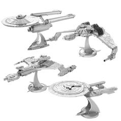 Kits para fabricar naves de Star Trek de Metal Earth en 3D